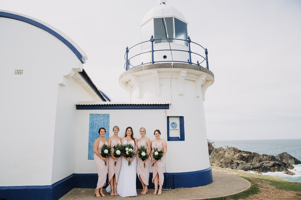 Bridesmaids at Lighthouse