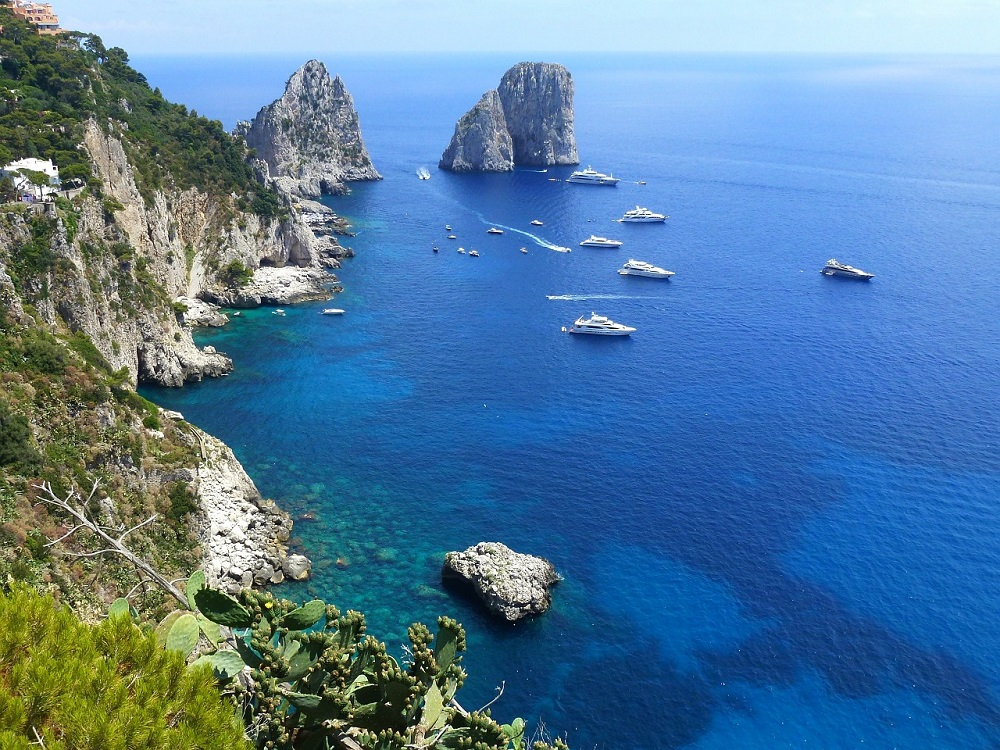 Isle of Capri Italy from above