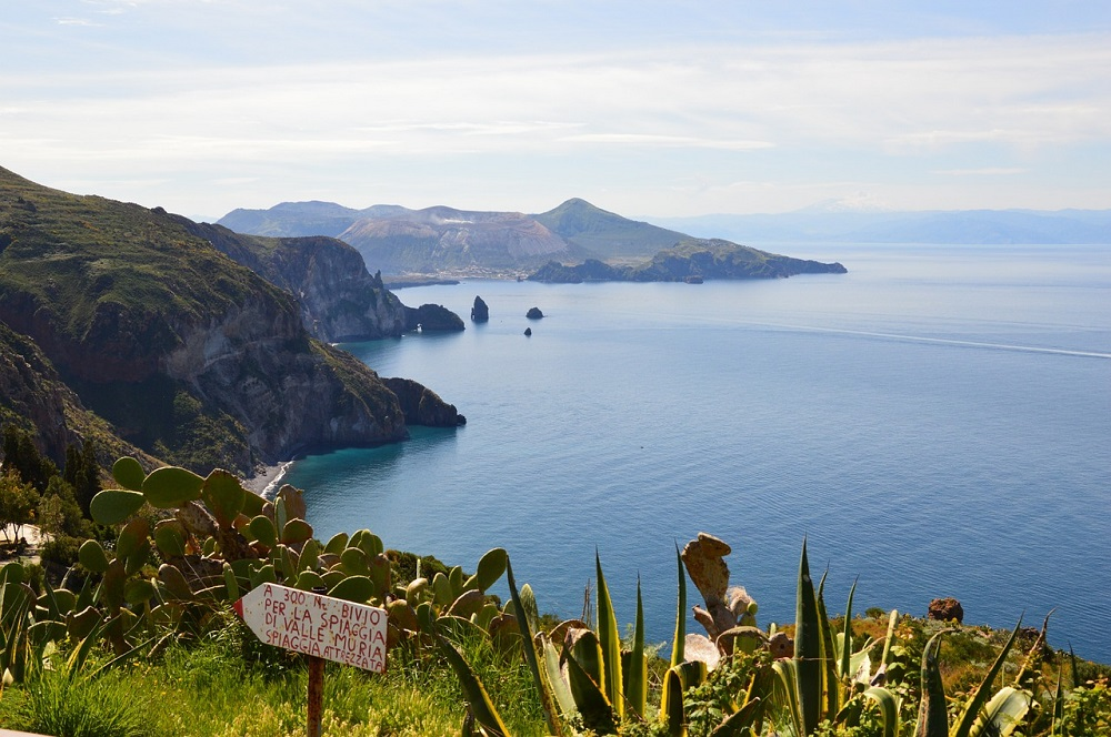 Hiking on Lipari Island in Italy