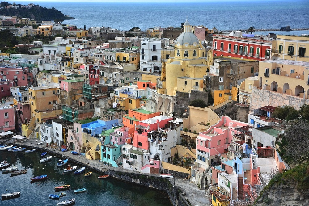 Fisherman Village in Procida Italy